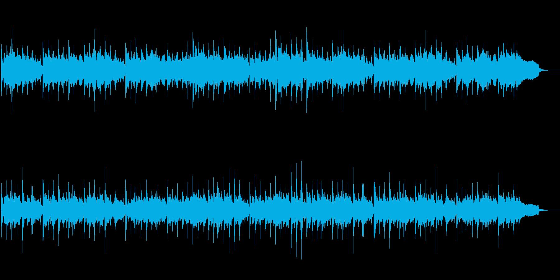 日本らしい切なく落ち着いた和風BGM4の再生済みの波形