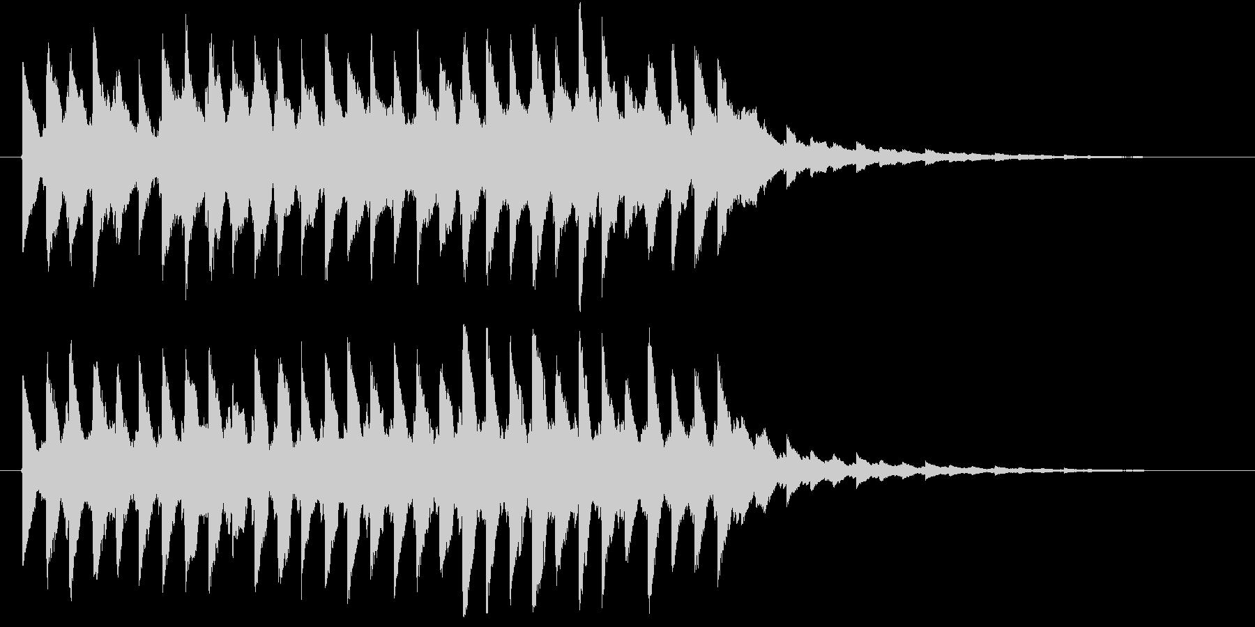 電子系ジングルの未再生の波形