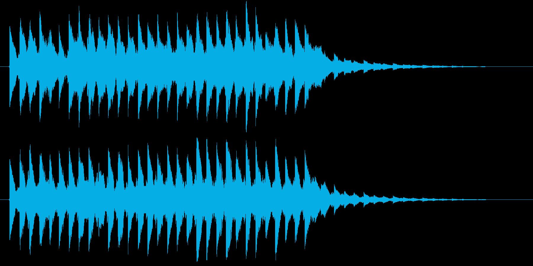電子系ジングルの再生済みの波形