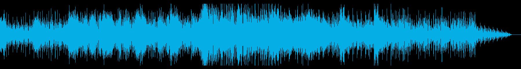 徐々に盛り上がるシネマティックBGMの再生済みの波形