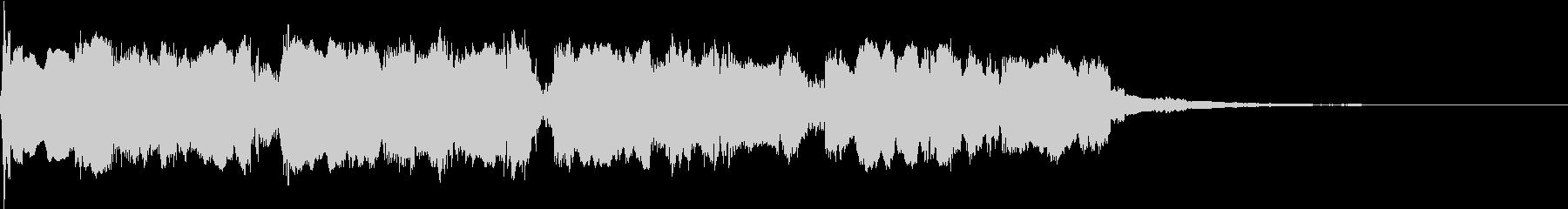 エレキギター 場面転換➁ ジングルの未再生の波形