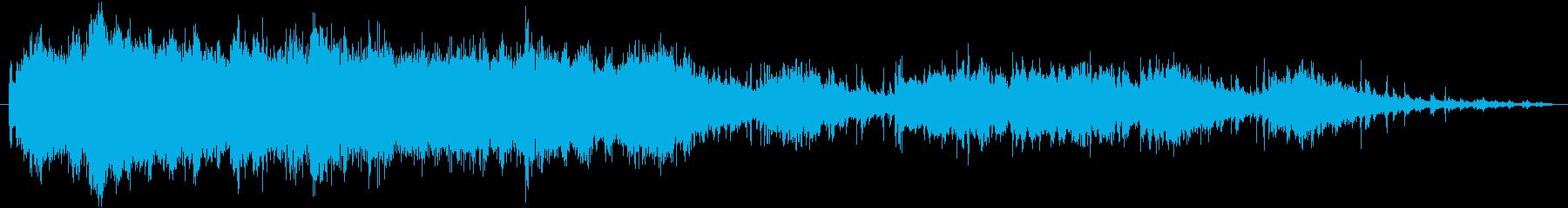 キラキラ夜空のような神秘的なSEの再生済みの波形