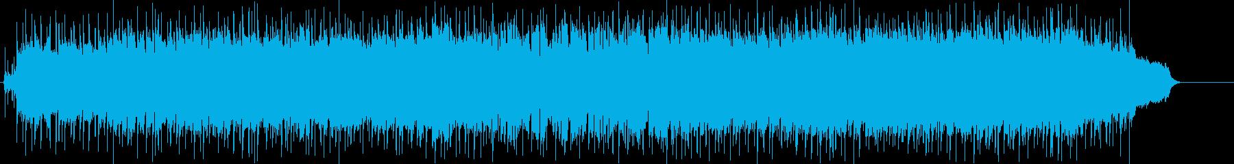 安堵感の漂うエンディング向けポップスの再生済みの波形
