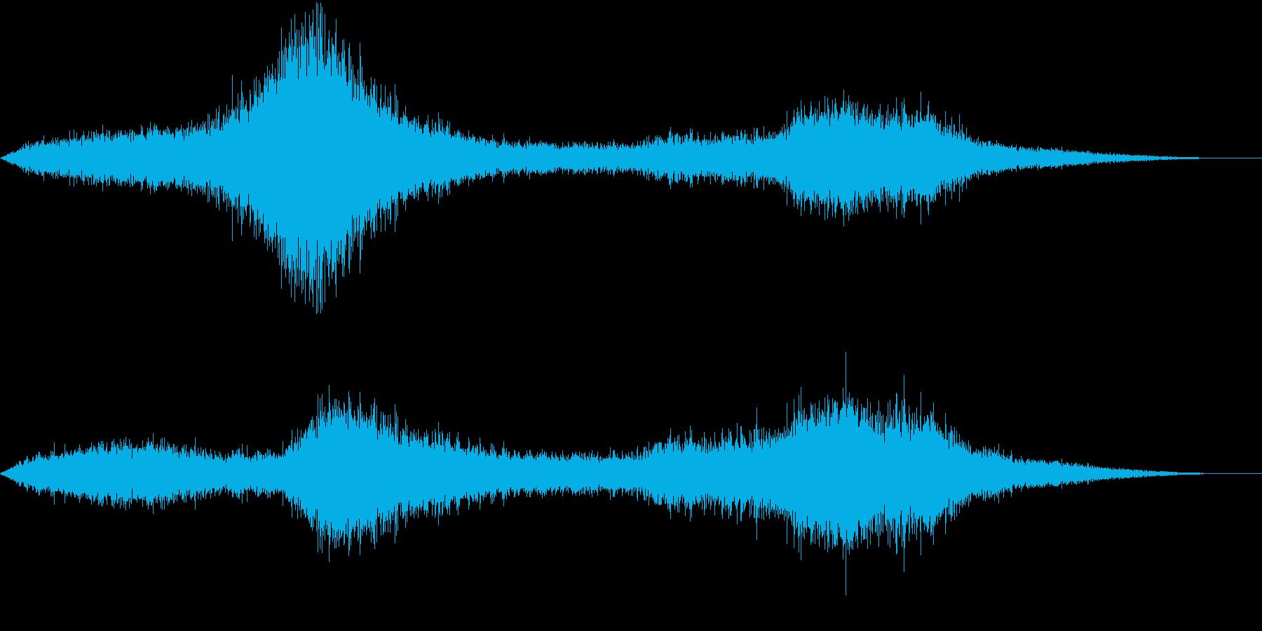 【生録音】トラックが一時停車&発進する音の再生済みの波形