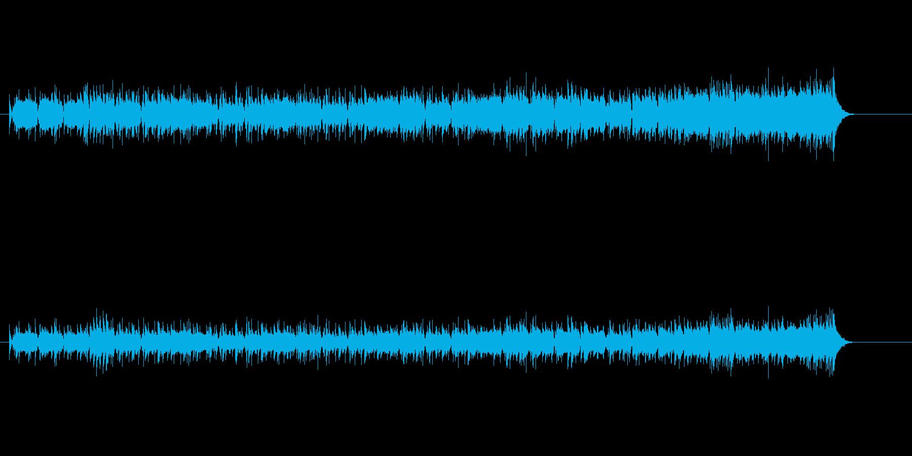 ベース・ラインが印象的な現代風ポップスの再生済みの波形
