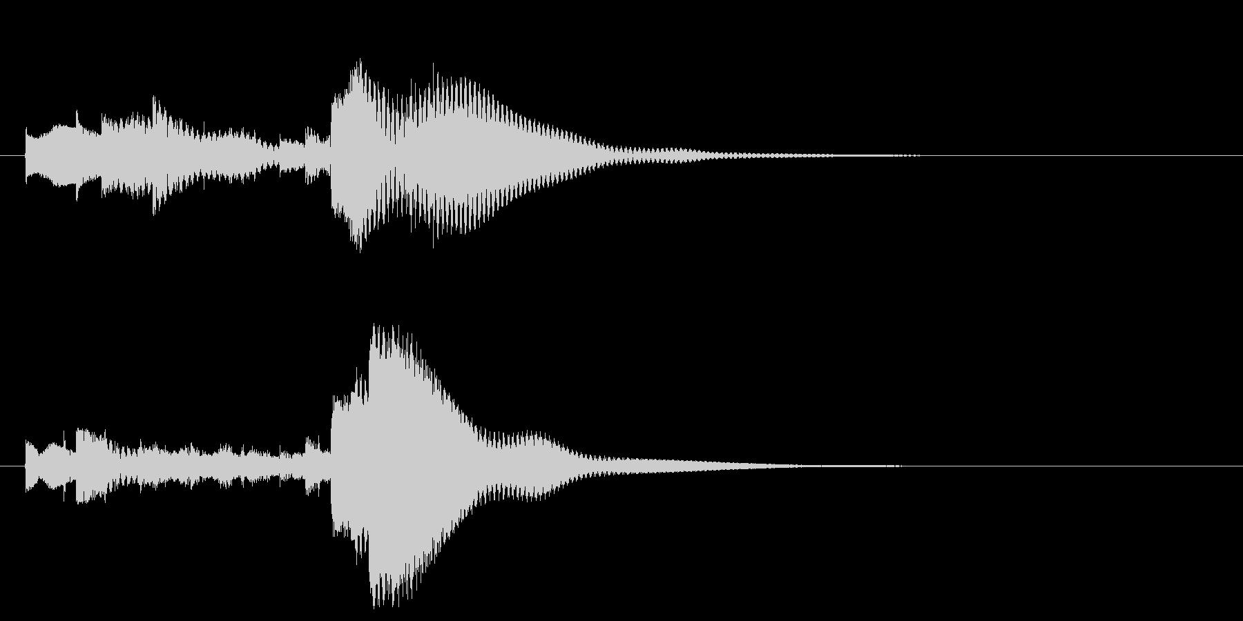 ベルトーンのミステリアスな場面転換音の未再生の波形