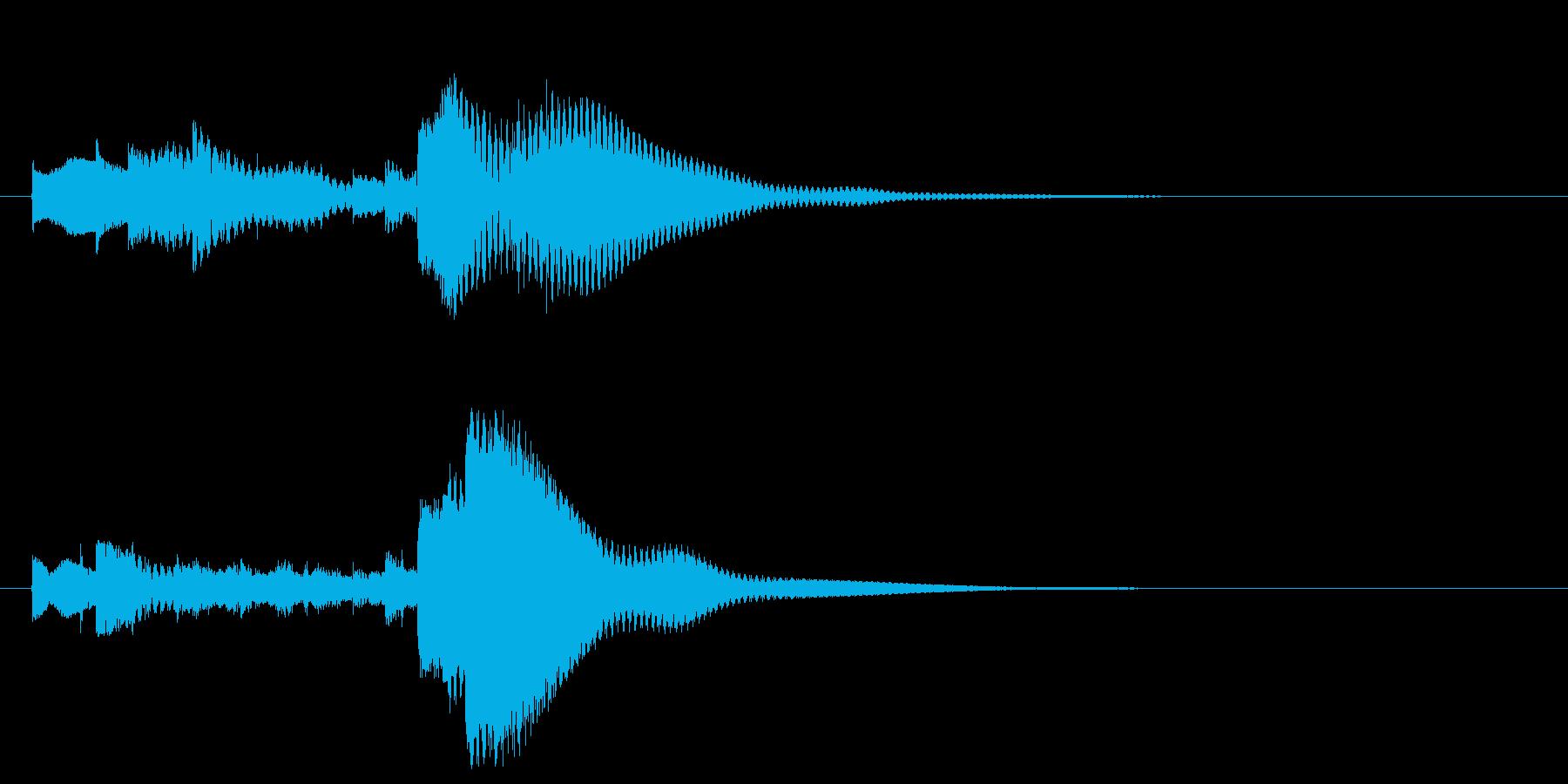 ベルトーンのミステリアスな場面転換音の再生済みの波形