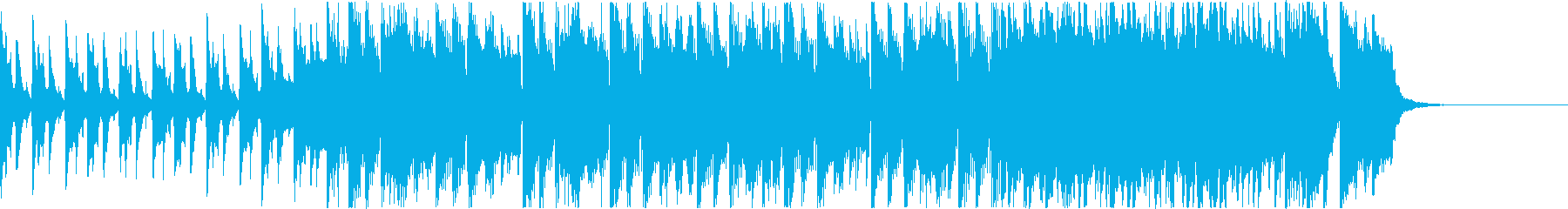 ほのぼのしたアコースティックBGMの再生済みの波形