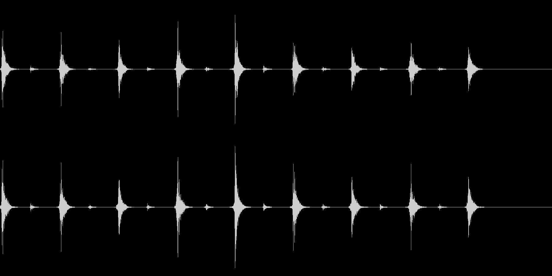 時計 秒針のリアルな効果音 01の未再生の波形