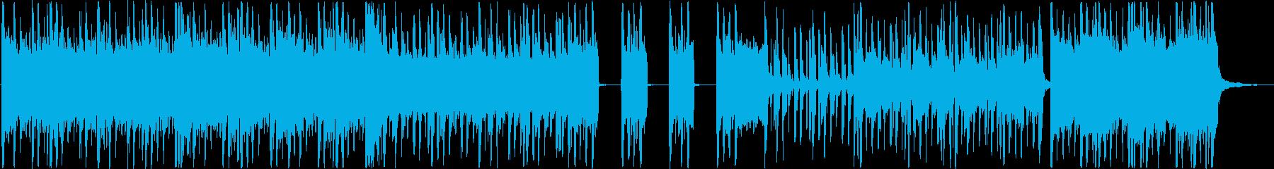 近代的なギターロックの再生済みの波形