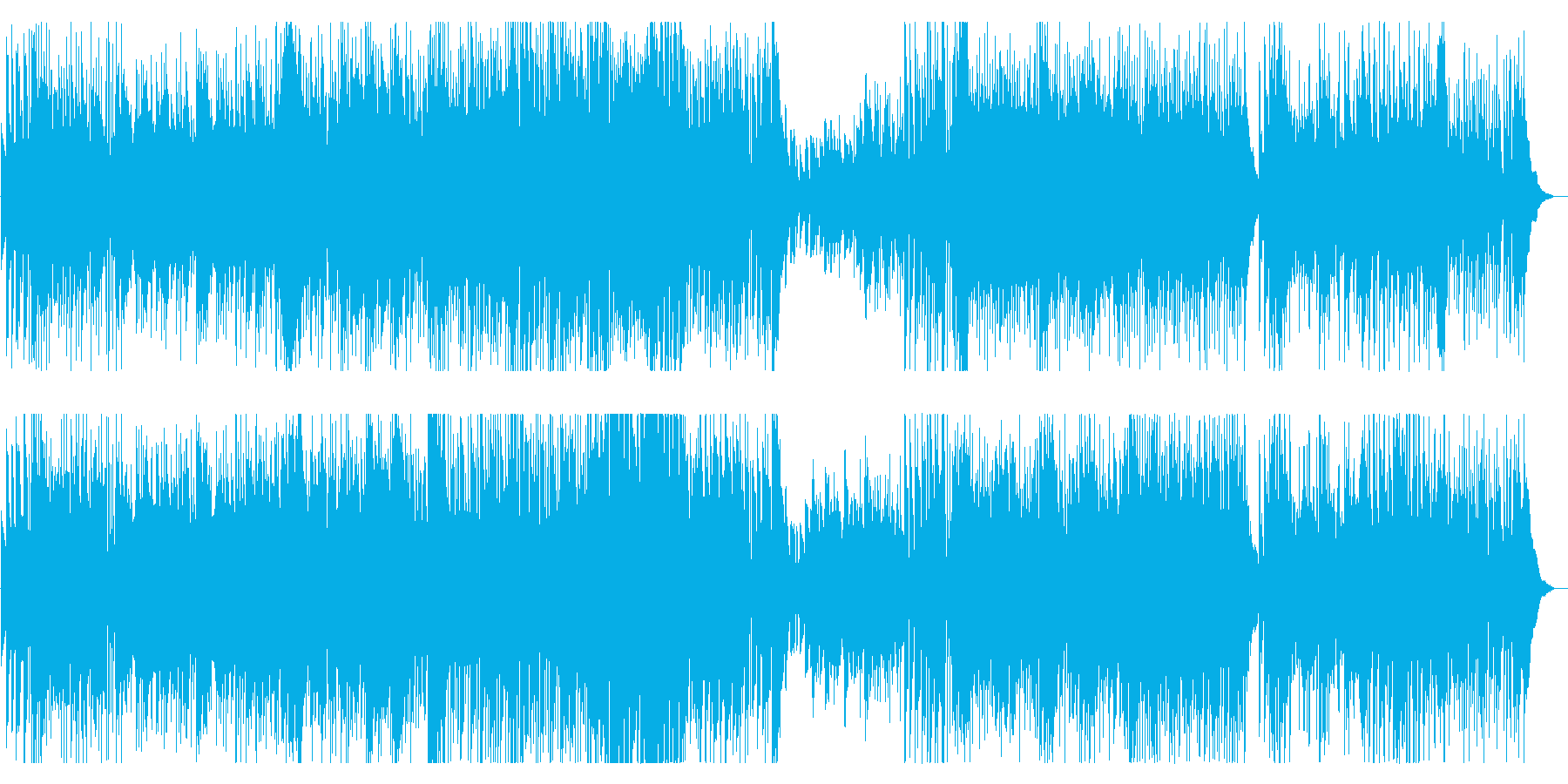 Happyなミディアム洋楽Popsの再生済みの波形