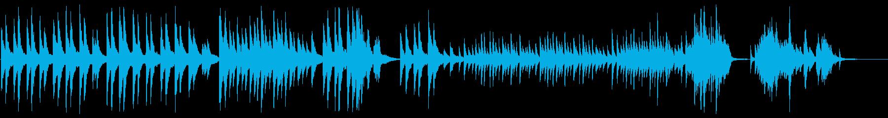 「仰げば尊し」のピアノカバーBGMの再生済みの波形