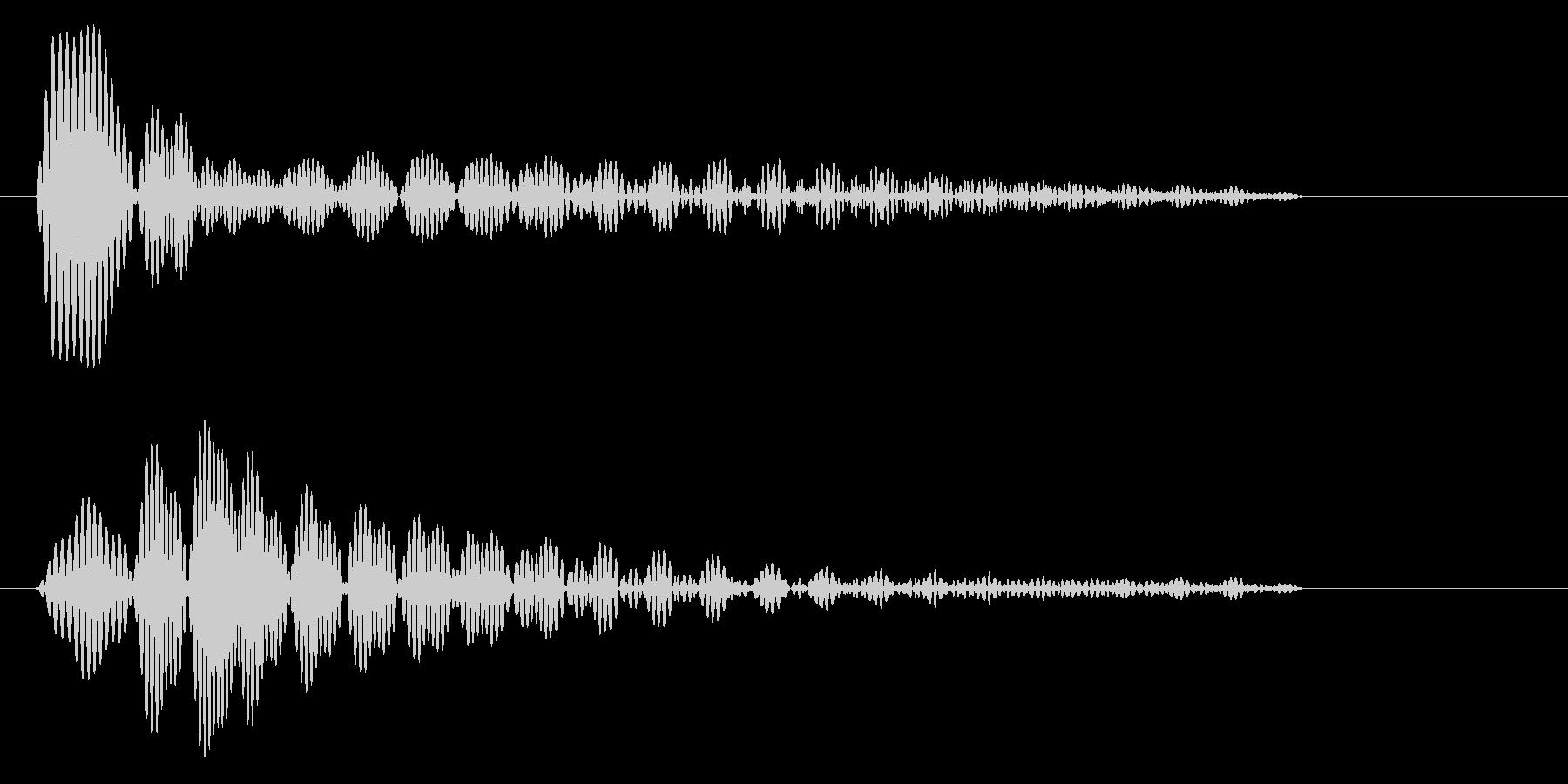 ポン(電子機器の通知音)の未再生の波形