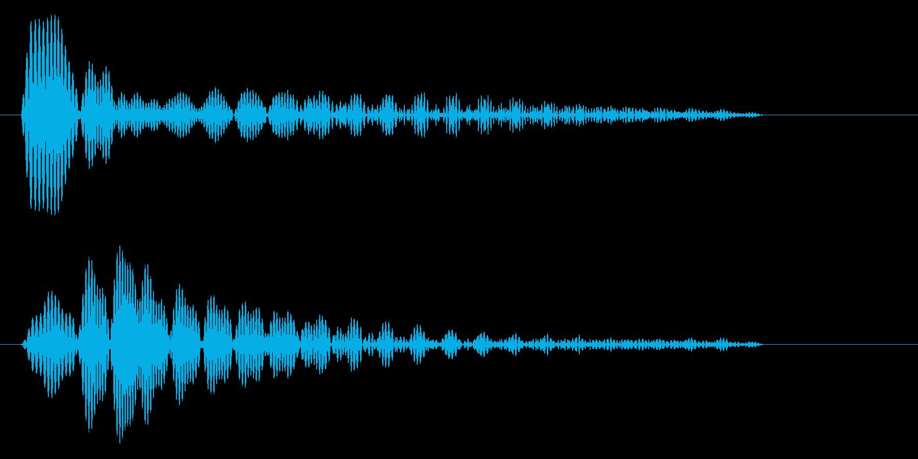 ポン(電子機器の通知音)の再生済みの波形