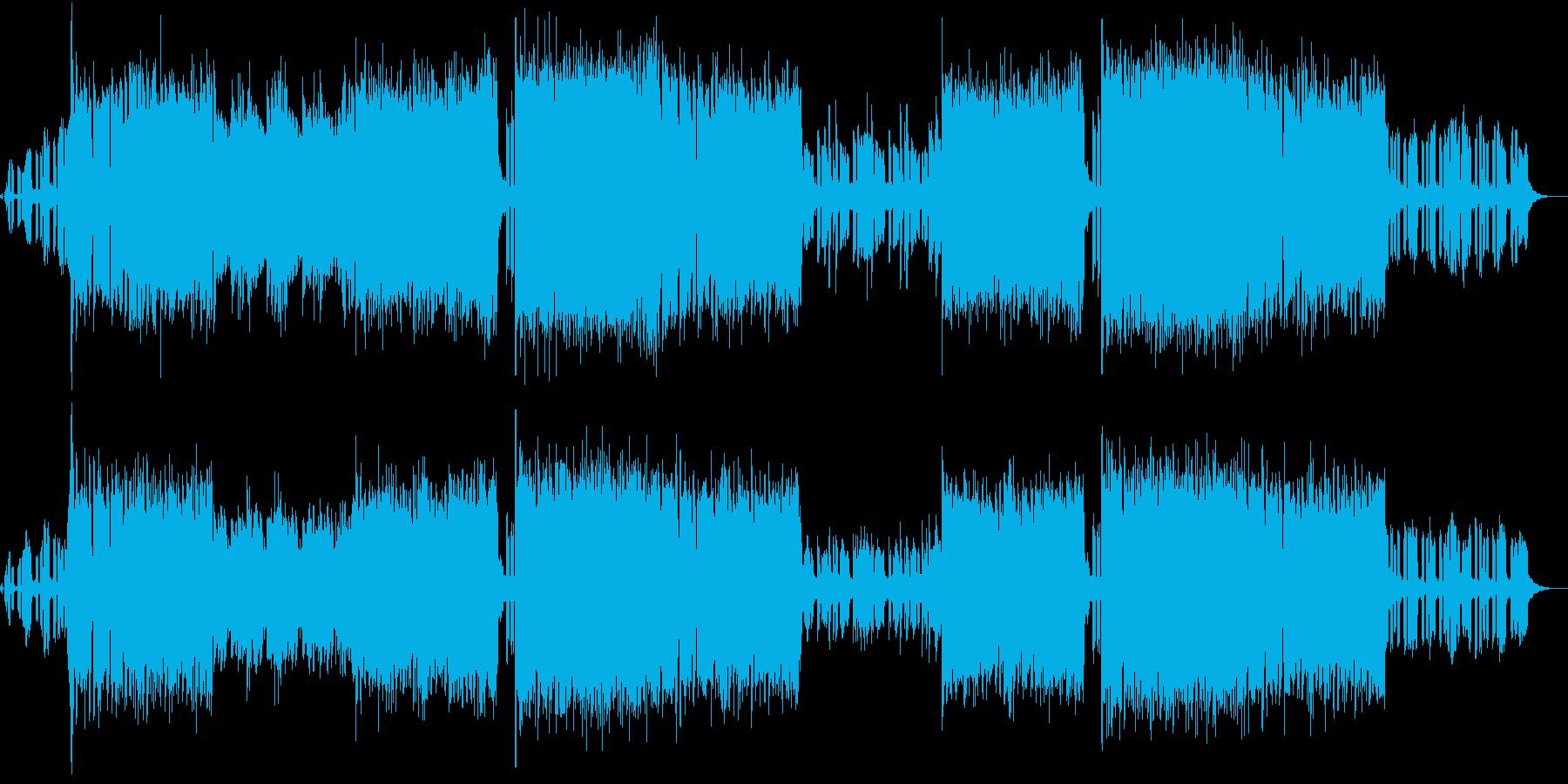 シンセが印象的なEDM系ロックの再生済みの波形