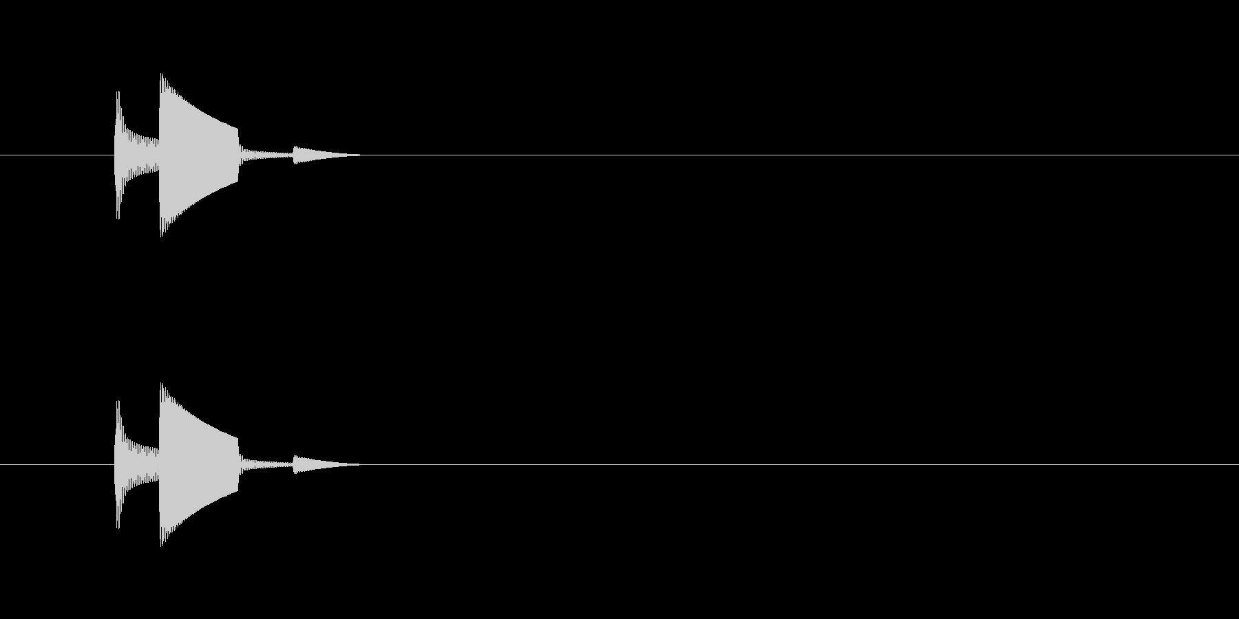 ピコン(アラート、警告、低い)の未再生の波形