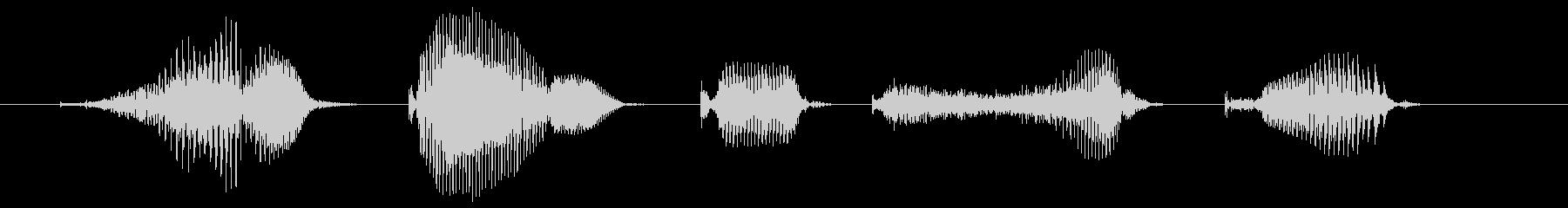 簡単手続きの未再生の波形