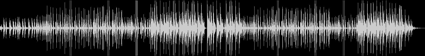 ピアノのヒップホップビートの未再生の波形