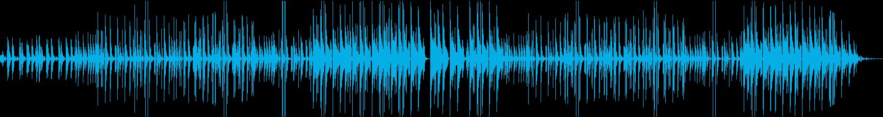 ピアノのヒップホップビートの再生済みの波形