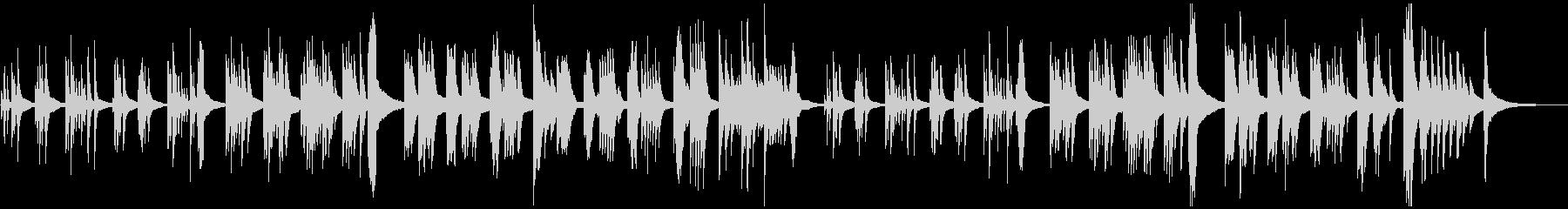静かなピアノ・ソロ 森 木漏れ日の未再生の波形