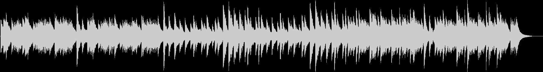 ハープとオルゴールの寂しげな曲の未再生の波形