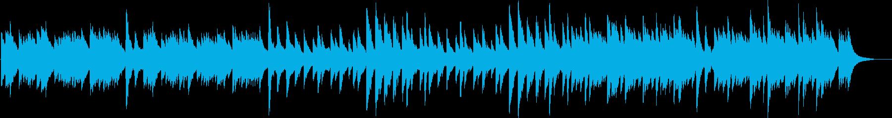 ハープとオルゴールの寂しげな曲の再生済みの波形