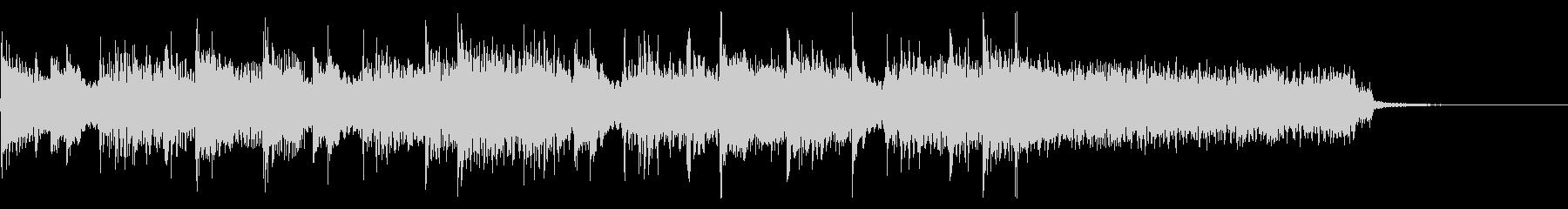 インパクトあるロックなジングル28の未再生の波形