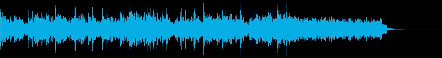 インパクトあるロックなジングル28の再生済みの波形