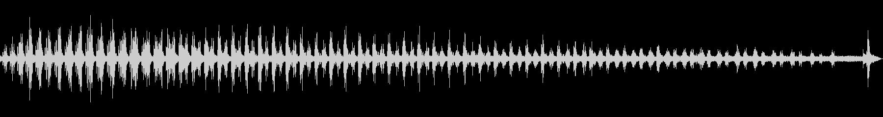 小綬鶏(コジュケイ)の鳴き声の未再生の波形