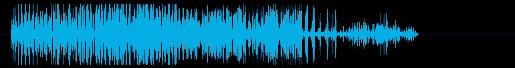 ブッシャ(時代劇向け斬撃音・中)の再生済みの波形
