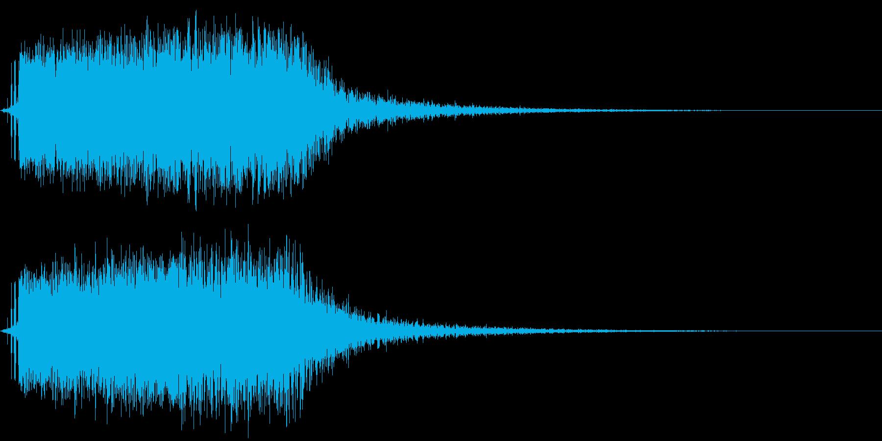 モンスターの鳴き声(翼竜系1)の再生済みの波形