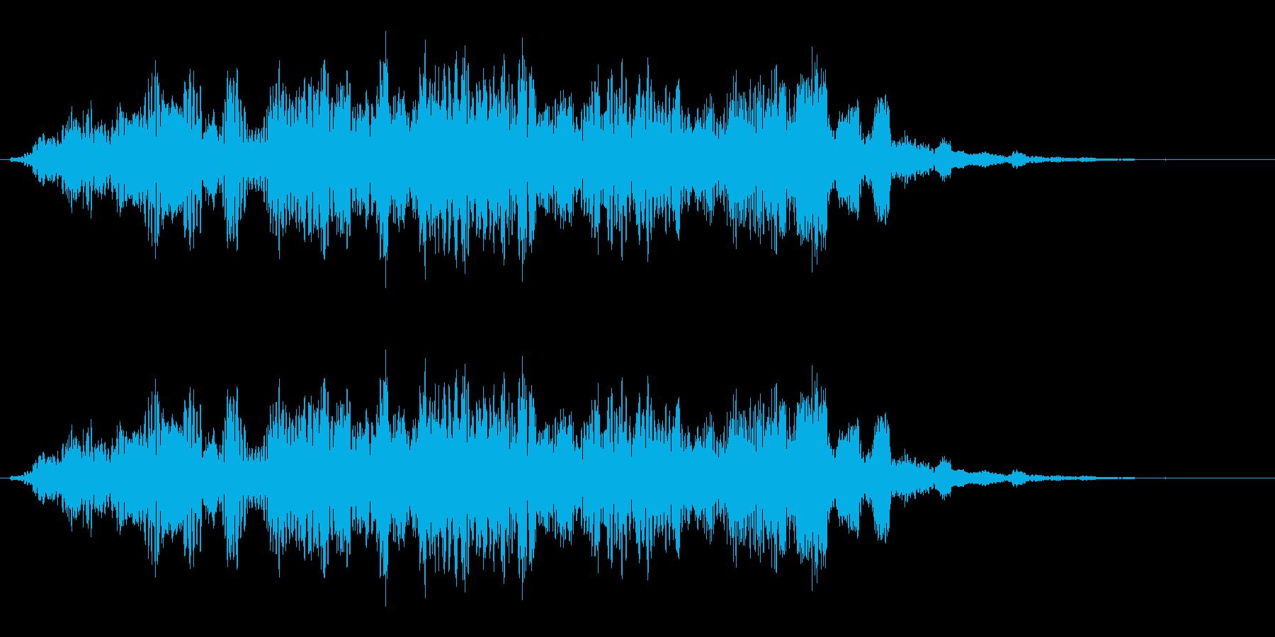 怖い音 奇妙 ホラーな不快な音 高めの再生済みの波形