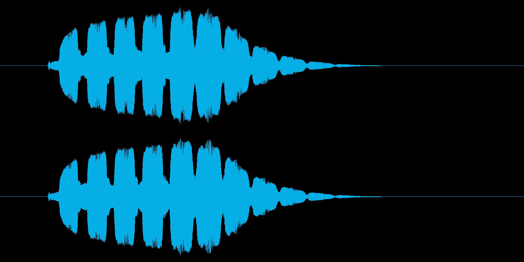 ピヨヨヨ(小さくなる・汗が流れる・困惑)の再生済みの波形