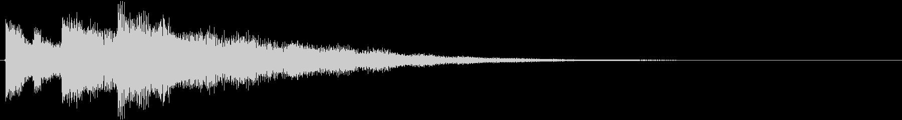 アプリゲームなどのお知らせ音、シンセ音の未再生の波形