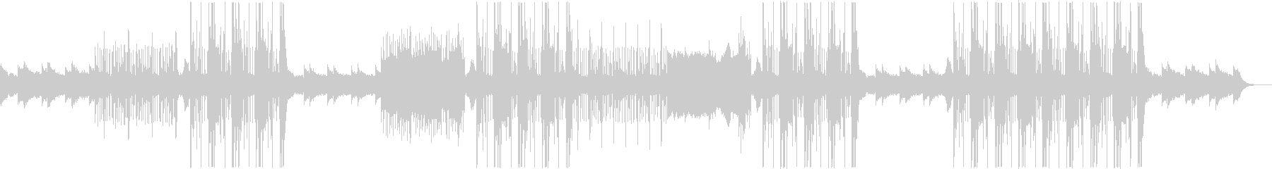 メロディックなトラップ系ビートの未再生の波形