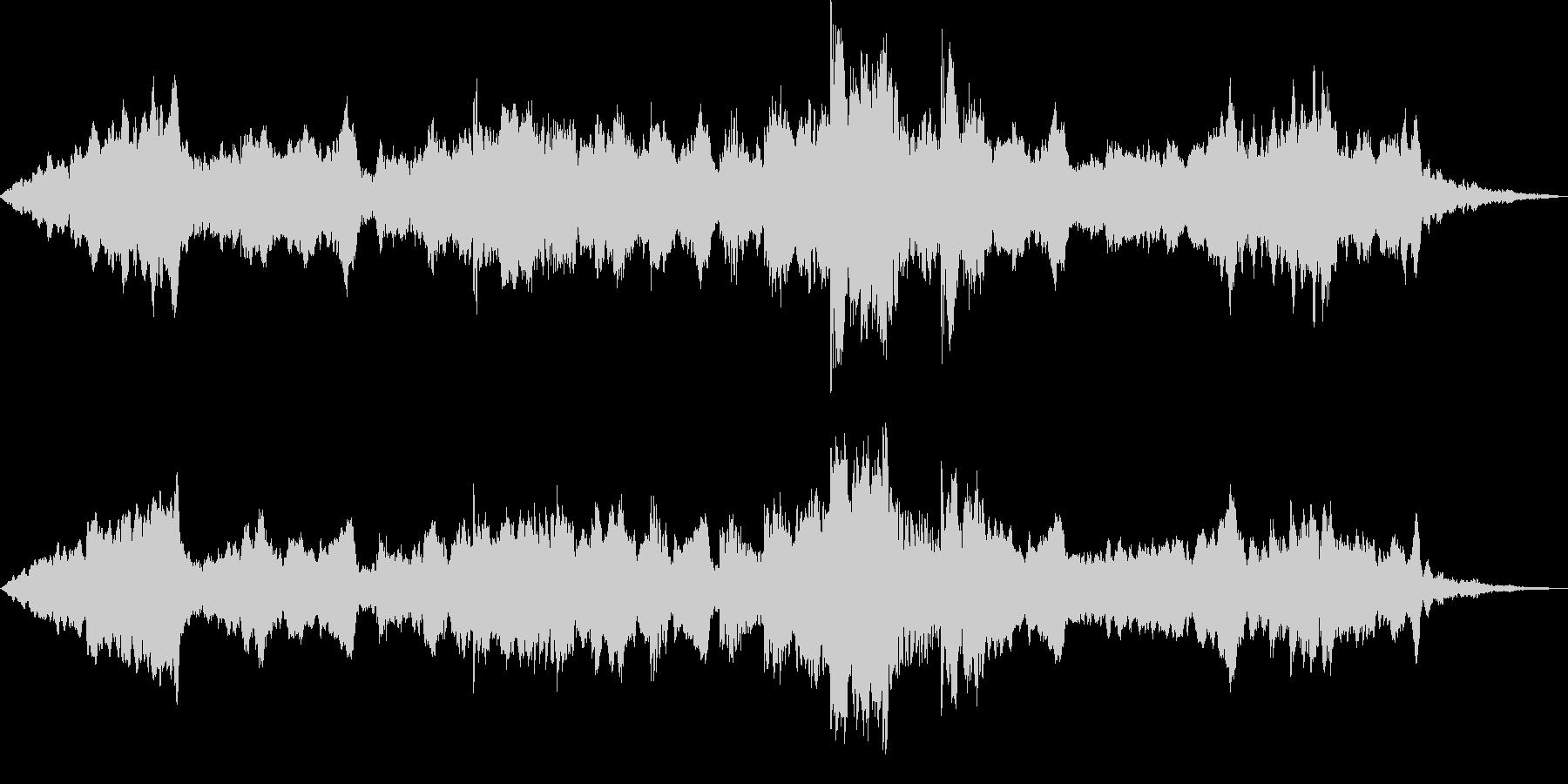 静かな風景 ヒーリングBGMの未再生の波形