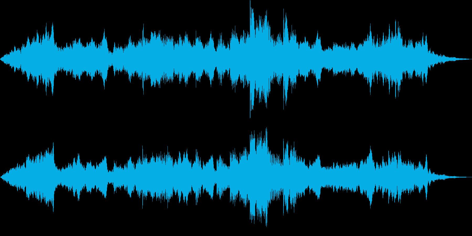 静かな風景 ヒーリングBGMの再生済みの波形