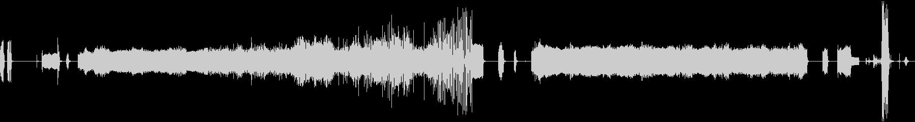 FAXマシン、小規模バージョン、受...の未再生の波形