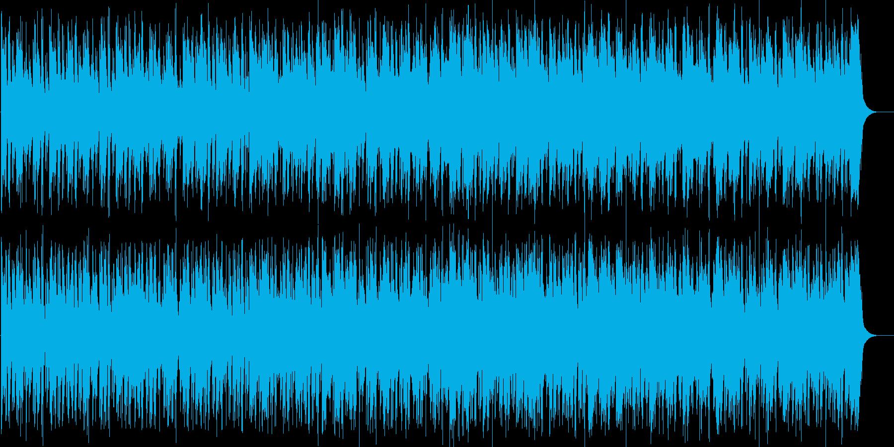 エキサイティングなおしゃれ風ロックの再生済みの波形