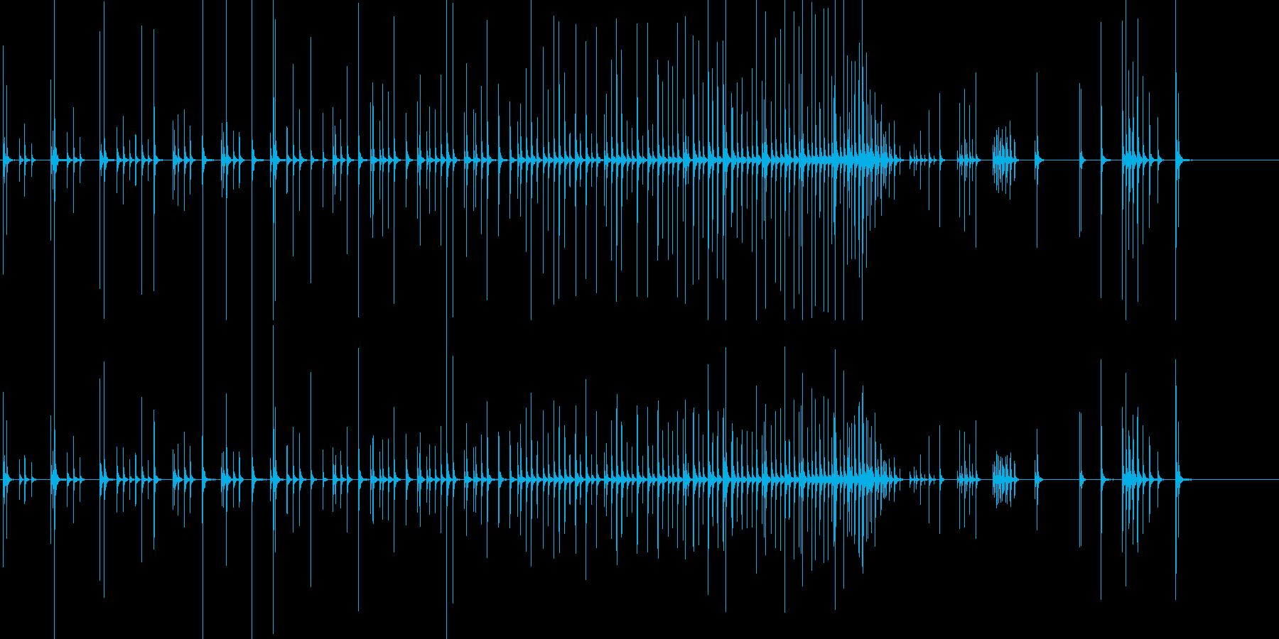 小木魚木章11歌舞伎黒御簾下座音楽和風日の再生済みの波形
