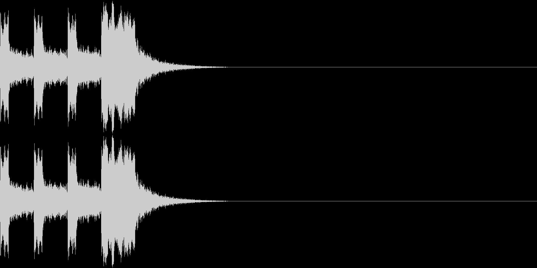 カウントダウン&スタート!(ビーム風)の未再生の波形