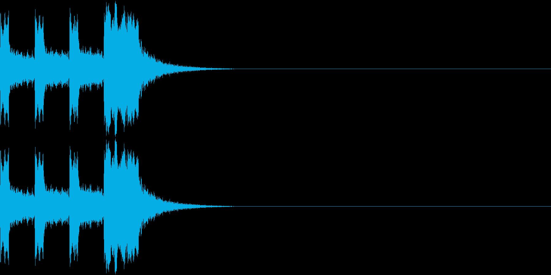 カウントダウン&スタート!(ビーム風)の再生済みの波形