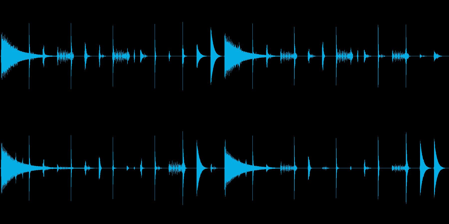 レトロなリズムボックスサウンドのループ…の再生済みの波形