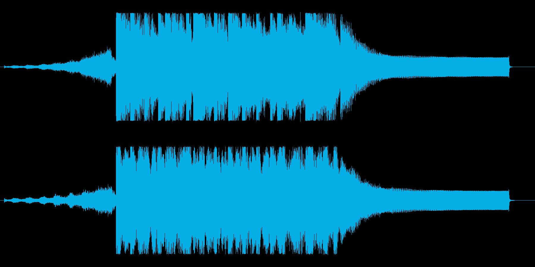 爽快、疾走感のアップビートポップ!の再生済みの波形