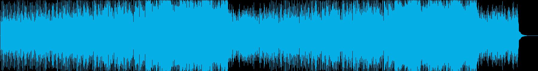 爽やかで都会的な4つ打ちピアノのポップスの再生済みの波形