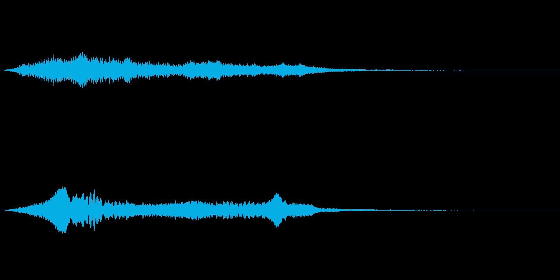 Horror 恐怖煽る金切りホラーノイズの再生済みの波形