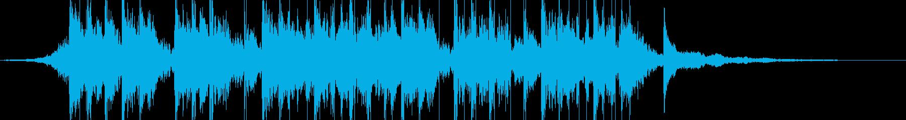民族調のサウンドロゴの再生済みの波形