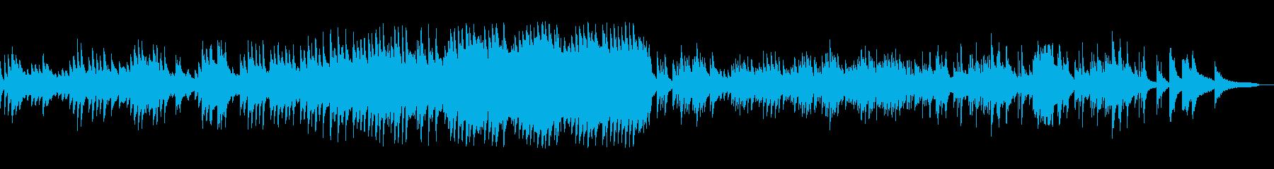 感動的でやさしさ溢れるソロピアノの再生済みの波形