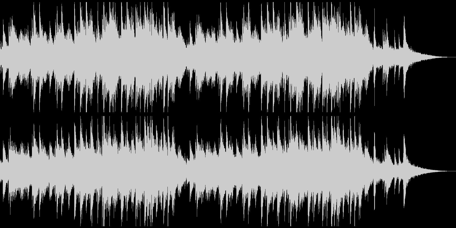 シリアスなピアノメインのBGMの未再生の波形