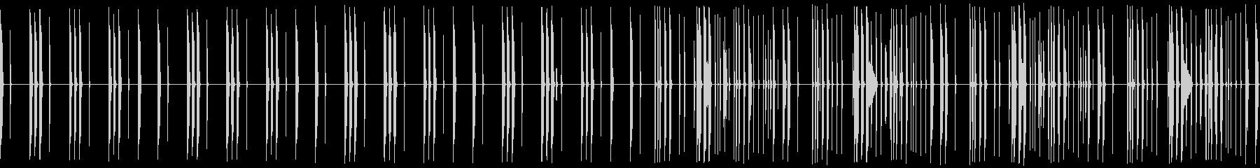 ヒップホップ/ヘビー/ドラムループ/#4の未再生の波形